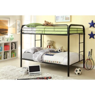 Furniture of America Linden Twin Over Twin Metal Bunk Bed (More options available)