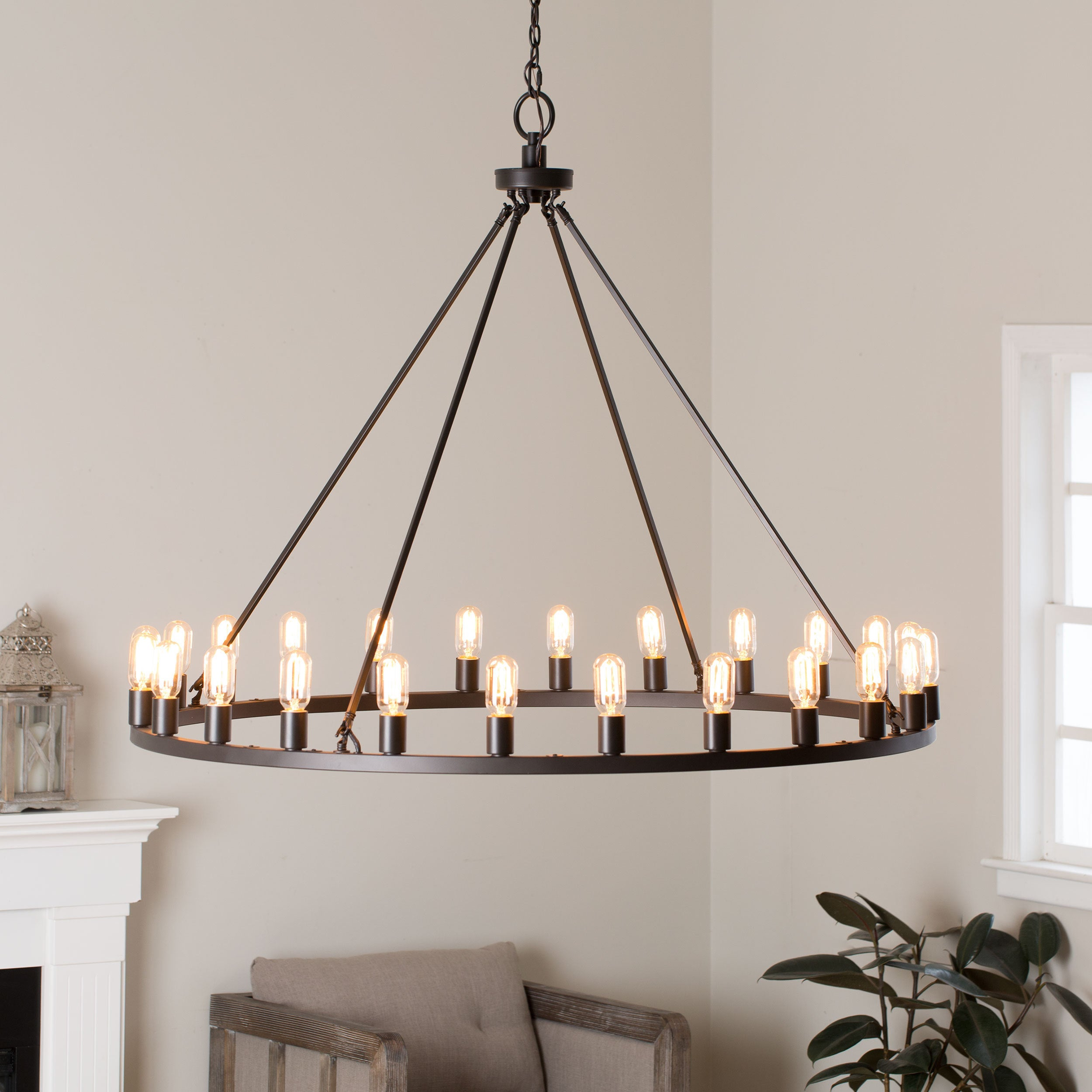 40w New Modern Hemsworth Oil Rubbed Bronze 24 Light Indoor Ceiling Chandelier