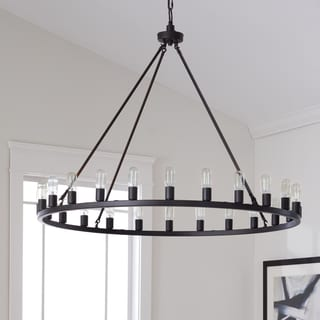 cheap rustic lighting. The Gray Barn Hemsworth Oil Rubbed Bronze 24-light Chandelier Cheap Rustic Lighting