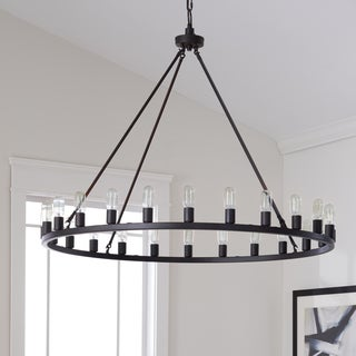 The Gray Barn Hemsworth Oil Rubbed Bronze 24-light Chandelier  sc 1 st  Overstock.com & Buy Dining Room Chandeliers Online at Overstock.com | Our Best ...