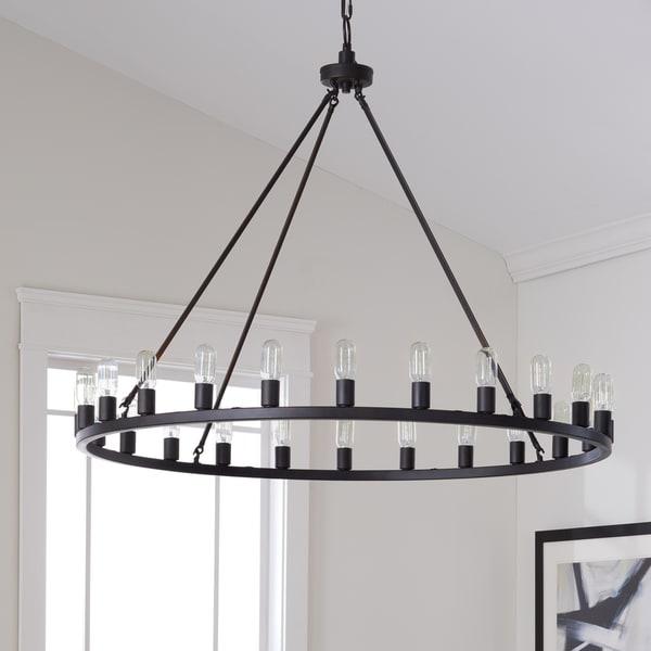 Oil Rubbed Bronze Wall Sconce Option Style The Gray Barn Hemsworth 24-light Chandelier