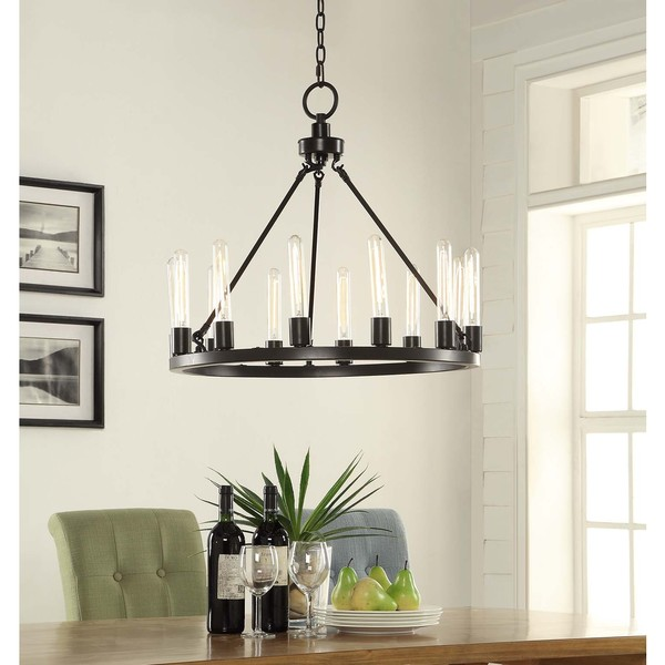 Ana Oil Rubbed Bronze 12light Chandelier Free Shipping Today – Chandelier Bronze