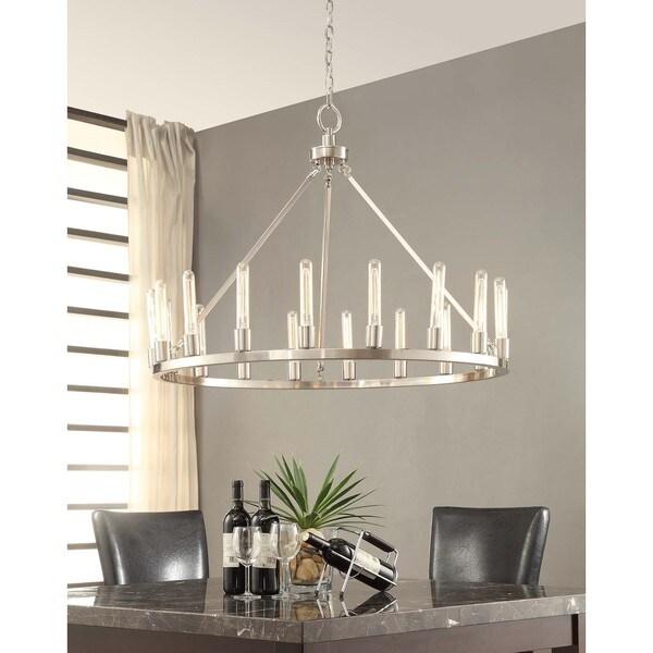 Nickel Dining Room Chandeliers: Shop Ana Brushed Nickel 18-light Chandelier