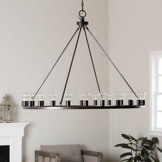 cheap rustic lighting. liam oil rubbed bronze 24-light chandelier cheap rustic lighting g