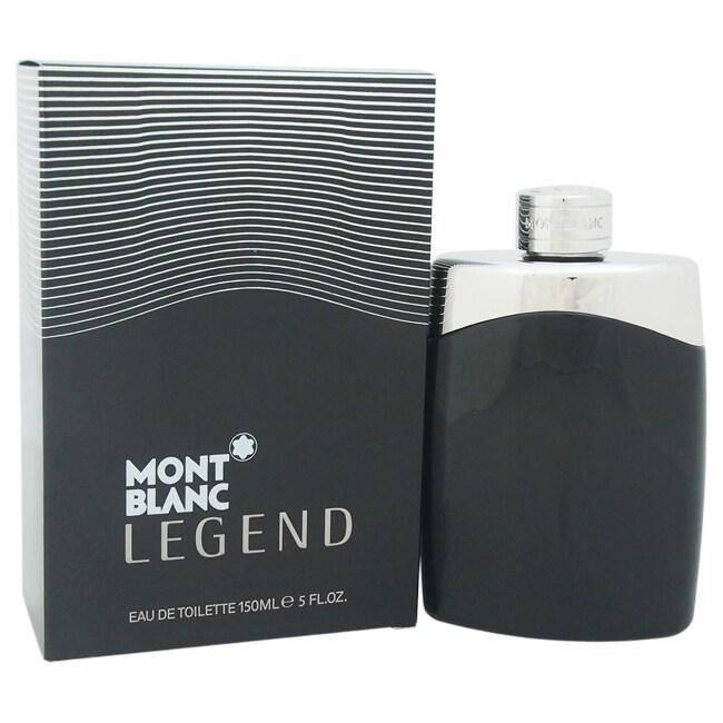 Mont Blanc Legend Men's 5-ounce Eau de Toilette Spray, Si...