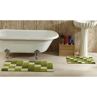 Tiles Tufted Cotton 2-piece Bath Rug Set by Better Trends