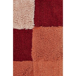 Tiles Tufted Cotton 2-piece Bath Rug Set by Better Trends - 40 x 24 (4 options available)