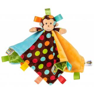 Mary Meyer Taggies Dazzle Dots Monkey Character Tag Blanket