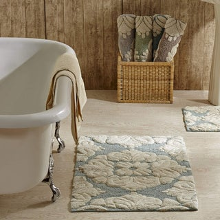 2-piece Medallion Pattern Cotton Tufted Bath Rug Set by Better Trends