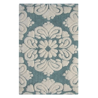 Medallion Pattern Cotton Tufted Non-skid Bath Rug (Set of 2) by Better Trends