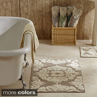 Charming 2 Piece Medallion Pattern Cotton Tufted Bath Rug Set By Better Trends