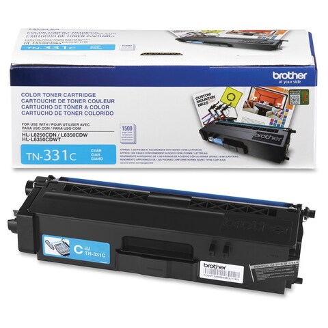 Brother Genuine TN331C Cyan Toner Cartridge