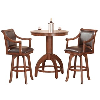 Palm Springs Medium Brown Cherry 3-piece Bar Height Dining set