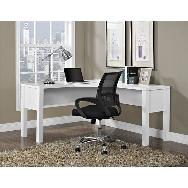 Avenue Greene Princeton White L Desk Free Shipping