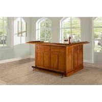 Classic Large Oak Bar with Side Bar