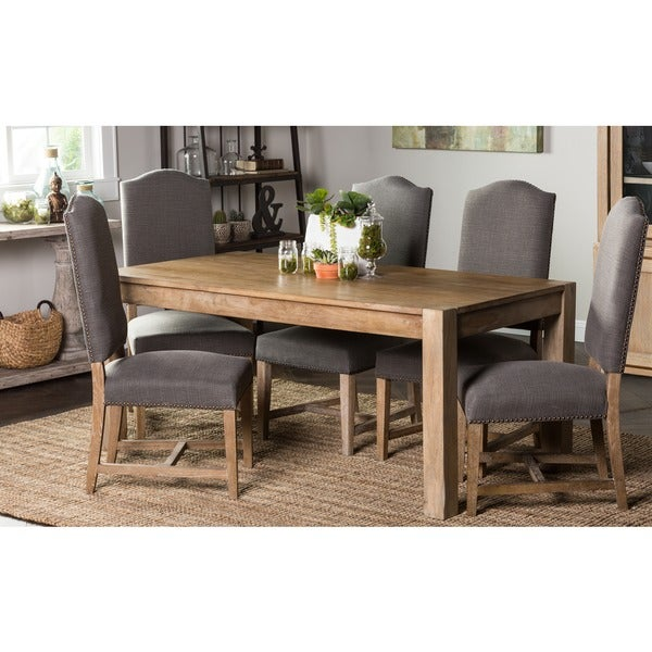 Kosas Home Kira 70-inch Teak Finish Dining Table