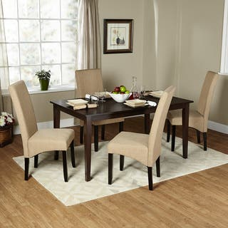 simple dining rooms. Simple Living 5 piece Brentwood Parson Dining Set Room Sets For Less  Overstock com