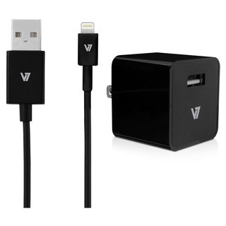 V7 12W USB Wall Charger with Lightning Cable