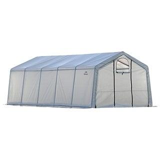 ShelterLogic Peak Top Heavy Duty Walk-Thru Greenhouse (12 ft H x 20 ft L x 8 ft W)