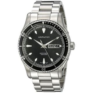 Link to Hamilton Men's 'Seaview' Black Dial Stainless Steel Watch Similar Items in Men's Watches