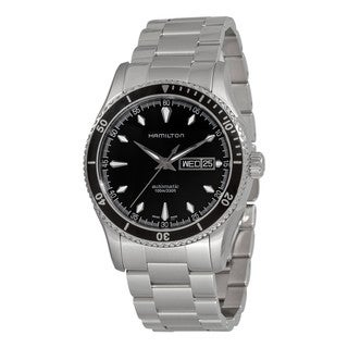 Hamilton Men's 'Seaview' Black Dial Stainless Steel Watch