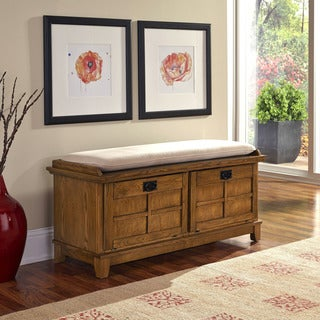 Arts and Crafts Upholstered Storage Bench by Home Styles
