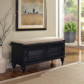Home Styles Bermuda Upholstered Storage Bench