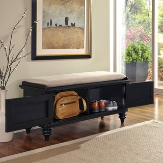 Home Styles Bermuda Upholstered Storage Bench