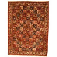 Herat Oriental Persian Hand-knotted 1960s Semi-antique Bakhtiari Wool Rug - 10'6 x 13'1