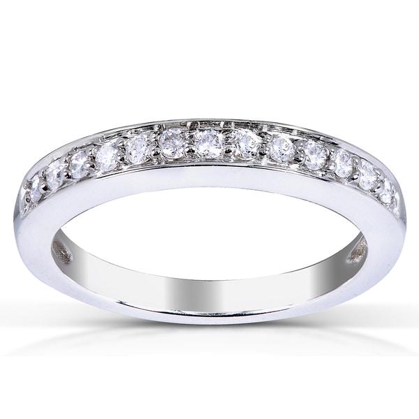 Annello by Kobelli 14k White Gold 1/5ct TDW Diamond Wedding Band