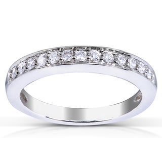 Annello by Kobelli 14k White Gold 1/5ct TDW Diamond Wedding Band