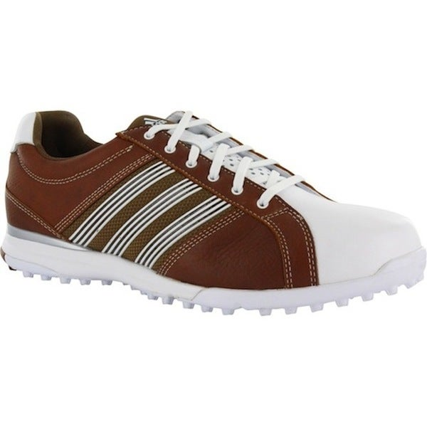 5db95e78746293 Shop Adidas Men's Adicross Tour Spikeless Brown/ White Golf Shoes - Free  Shipping Today - Overstock - 8880334