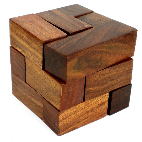 Wood Block Puzzle ~ Handmade wooden cube puzzle india free shipping on