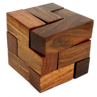Handmade Wooden Cube Puzzle (India)