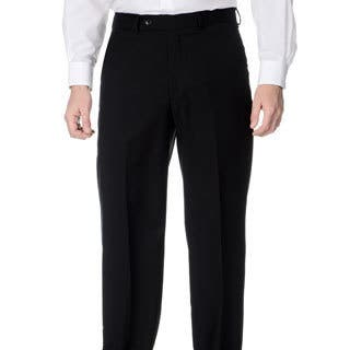 bcd3369cdc2d Clearance. Palm Beach Men s Stretchable Waistband Flat Front Black Pant