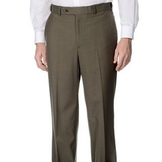 Palm Beach Men's Flat Front Self Adjusting Expander Waist Pant