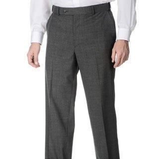 Palm Beach Men's Md. Grey Self Adjusting Expander Waist Flat Front Pant