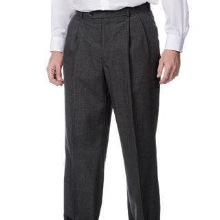 Palm Beach Men's Md. Grey Self Adjusting Expander Pleated Front Waist Pant (Option: 34r)