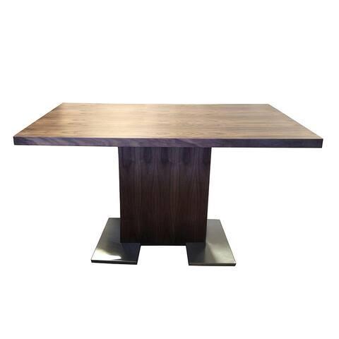 Armen Living 'Zenith' Wood Dining Table - Black/Walnut