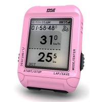 Pyle Pink Multi-function Digital LED Sports Bicycling Computer Device