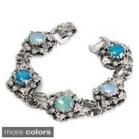 Sweet Romance Antique Cushion Cut  Link Bracelet