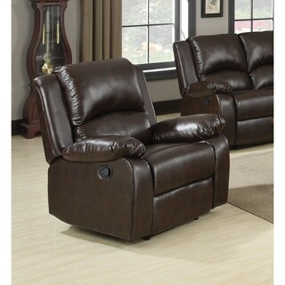 Coaster Company Boston Casual Brown Pillow Arms Recliner