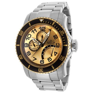Invicta Men'S 15337 Pro Diver Goldtone Dial Stainless Steel Watch|https://ak1.ostkcdn.com/images/products/8880473/Invicta-Mens-15337-Pro-Diver-Goldtone-Dial-Stainless-Steel-Watch-P16104272.jpg?_ostk_perf_=percv&impolicy=medium