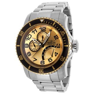 Invicta Men'S 15337 Pro Diver Goldtone Dial Stainless Steel Watch|https://ak1.ostkcdn.com/images/products/8880473/Invicta-Mens-15337-Pro-Diver-Goldtone-Dial-Stainless-Steel-Watch-P16104272.jpg?impolicy=medium