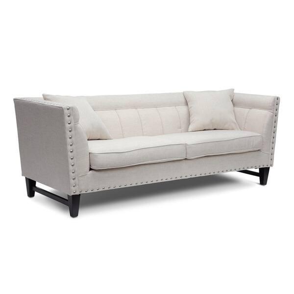 Magnificent Shop Baxton Studio Stapleton Beige Linen Modern Sofa Set Spiritservingveterans Wood Chair Design Ideas Spiritservingveteransorg