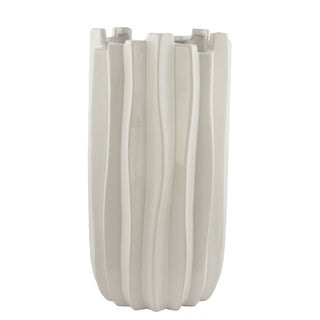 Tall Carolina White Ceramic Vase