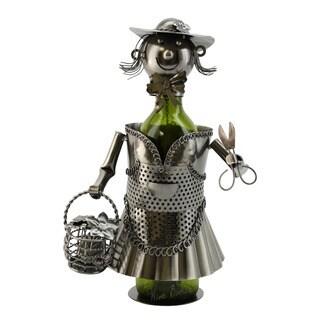 WineBodies Lady Gardener Metal Wine Bottle Holder