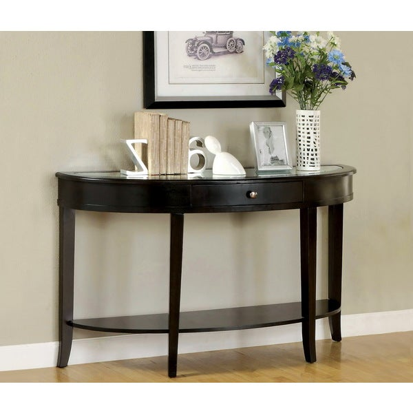 Furniture Of America Slovaria Modern Beveled Sofa Table