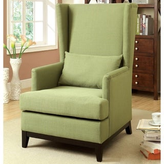 Furniture of America Valt Contemporary Green Fabric Accent Chair