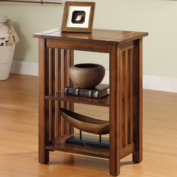 Shop Furniture Of America Valentin Antique Oak Mission Style End